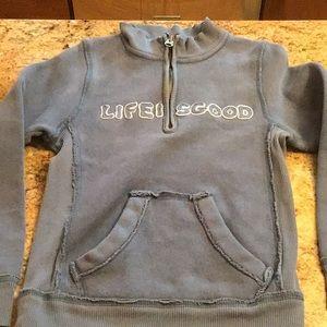 Life is Good quarter zip sweatshirt